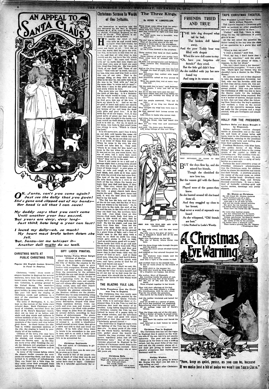 The Princeton Union. 24 Dec. 1914