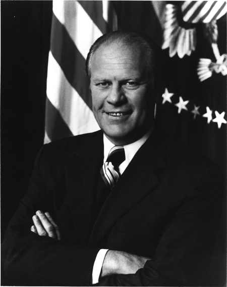 Gerald R. Ford, half-length portrait