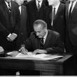 Pres. L.B. Johnson signs the 1968 Civil Rights Bill