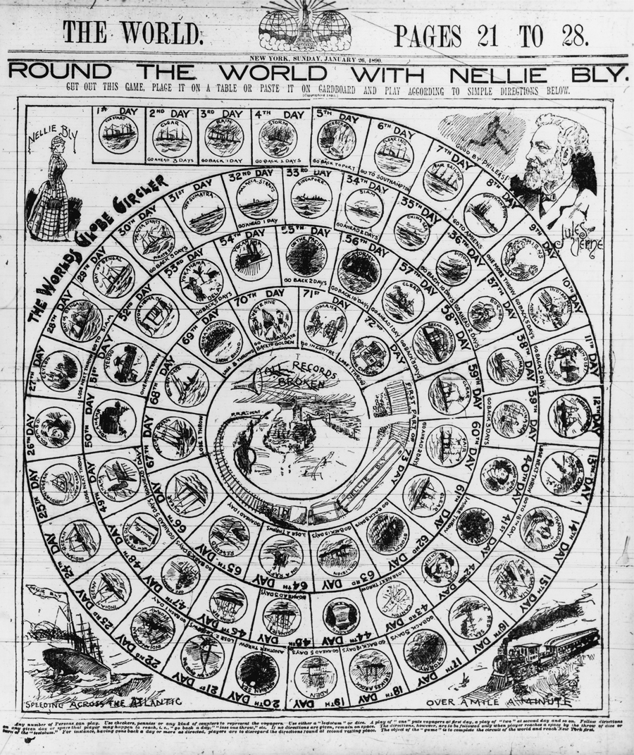 Round the world with Nellie Bly--The Worlds globe circler
