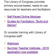 Library of Congress Spring 2015 Educator Webinars