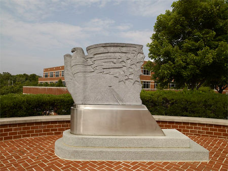 "Sculpture ""Sentinel"" at Philadelphia Veterans Administration, Philadelphia, Pennsylvania"