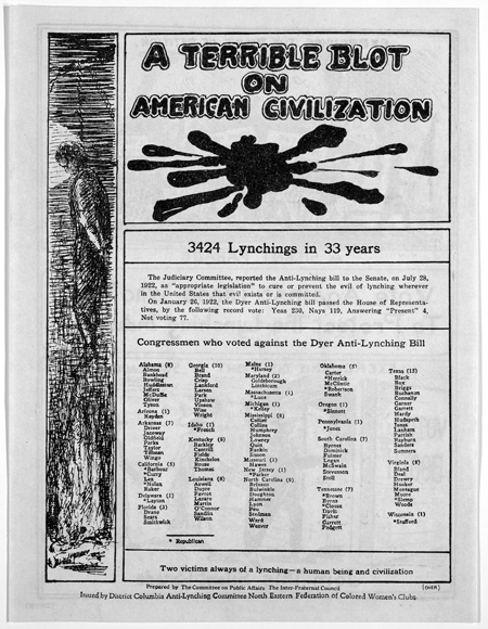 A terrible blot on American civilization. 3424 lynchings in 33 years