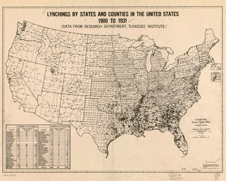 Lynchings by states and counties in the United States, 1900-1931