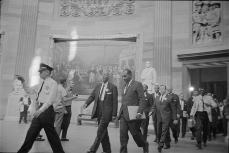 A. Philip Randolph and other civil rights leaders on their way to Congress during the March on Washington, 1963