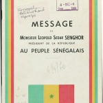 Message from Mister Leopold Sedar Senghor, President of the Republic, to the Senegalese People