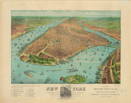 Manhattan Island History Showing Manhattan Island