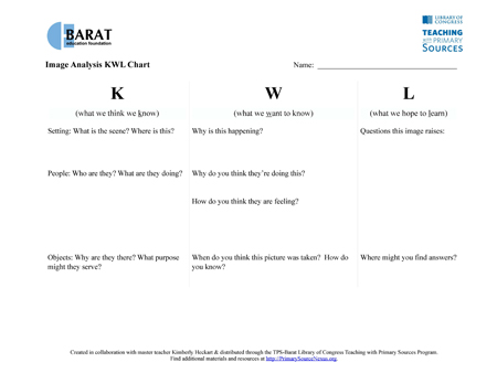 Printables Primary Source Analysis Worksheet analyzing primary sources elementary image text analysis sheets kwl chart engage all