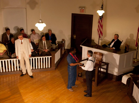 "A scene from the play ""To Kill A Mockingbird,"" performed in Monroeville, Alabama"