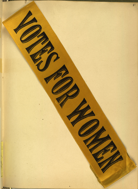Votes for women ribbon