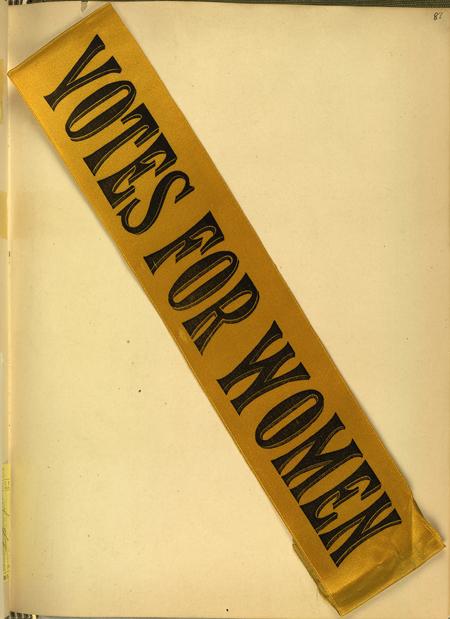 Votes for women ribbon