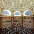 Main Reading Room. View from above showing researcher desks.