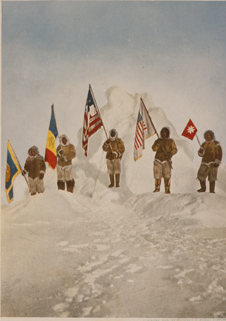 The five flags at the Pole