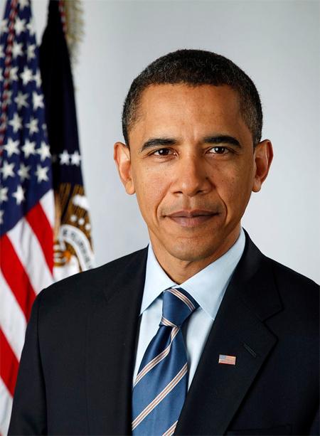 Official portrait of President-elect Barack Obama