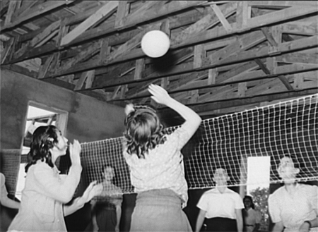 Volleyball at school