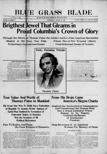 Thomas Paine Purity, Patriotism, Principle