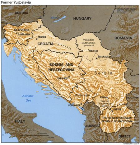 Former Yugoslavia 1996 CIA map
