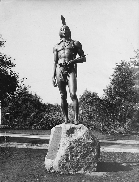 Statue to Massasoit, Plymouth, Mass.