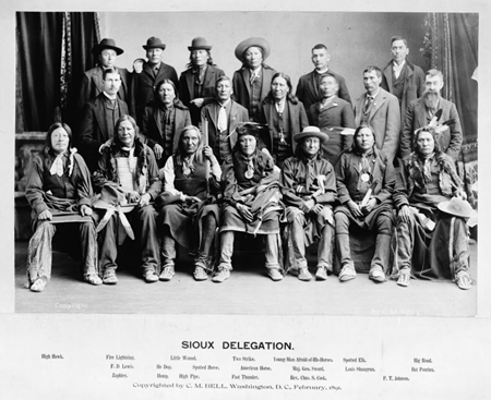 Sioux delegation