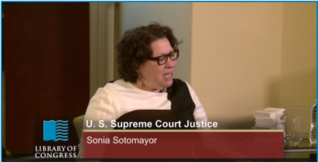 Supreme Court Justice Sonia otomayor