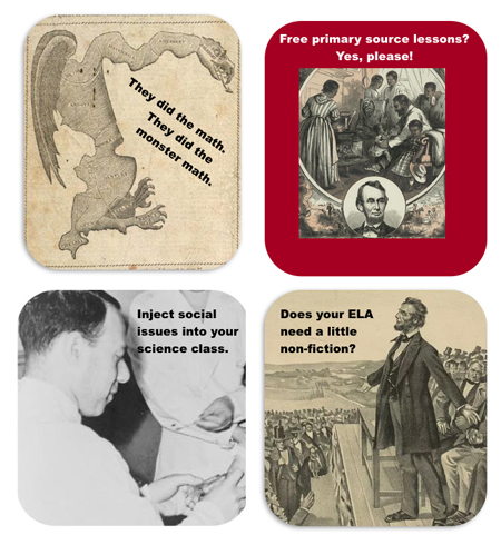 Free Teaching with Primary Sources Webinars in April