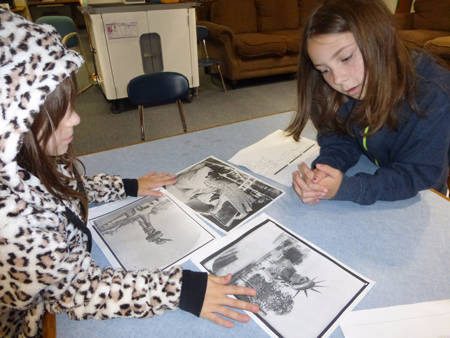 4th graders thinking like historians & analyzing primary sources