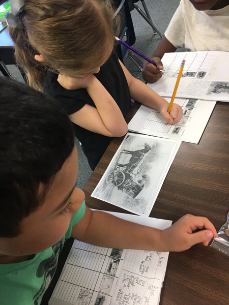 PBL Unit- Using @librarycongress primary sources, Ss compared how transportation has changed over time!