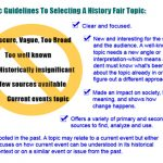 NHD 2018: Selecting a Topic for a History Project