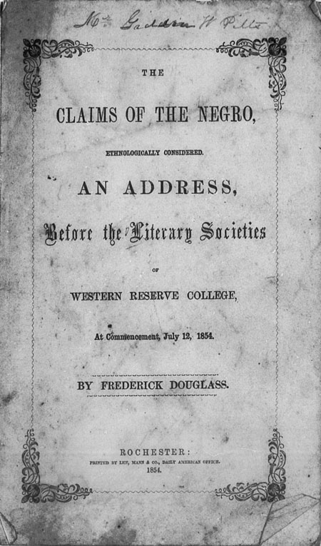 The Claims of the Negro