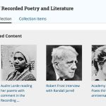 Collection Spotlight: Archive of Recorded Poetry and Literature