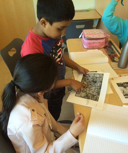 4th graders studying primary sources to learn about events from the Civil Rights Movement.