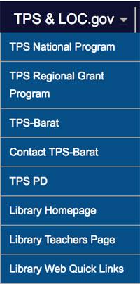 TPS LOC menu