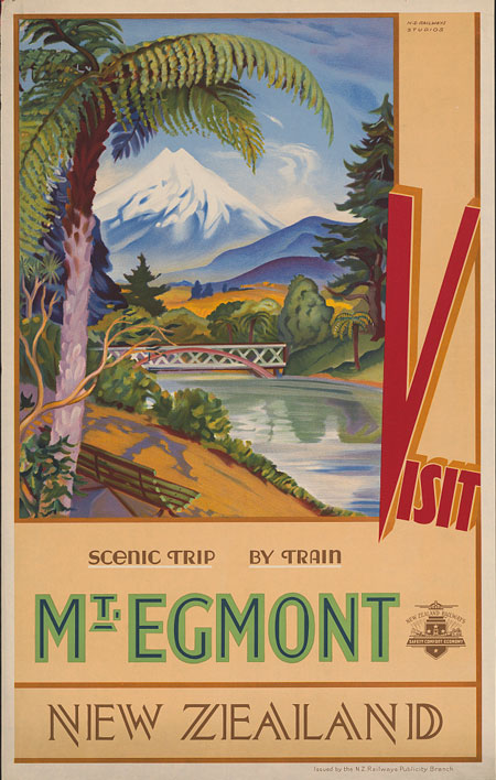 Visit Mt. Egmont, New Zealand Scenic trip by train