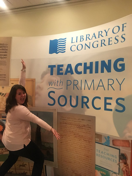 If you're looking for GREAT professional development, you NEED to go to the Teaching with Primary Sources Summer Institute at the Library of Congress. Learned so much to encourage students to think critically & enhance classroom engagement!