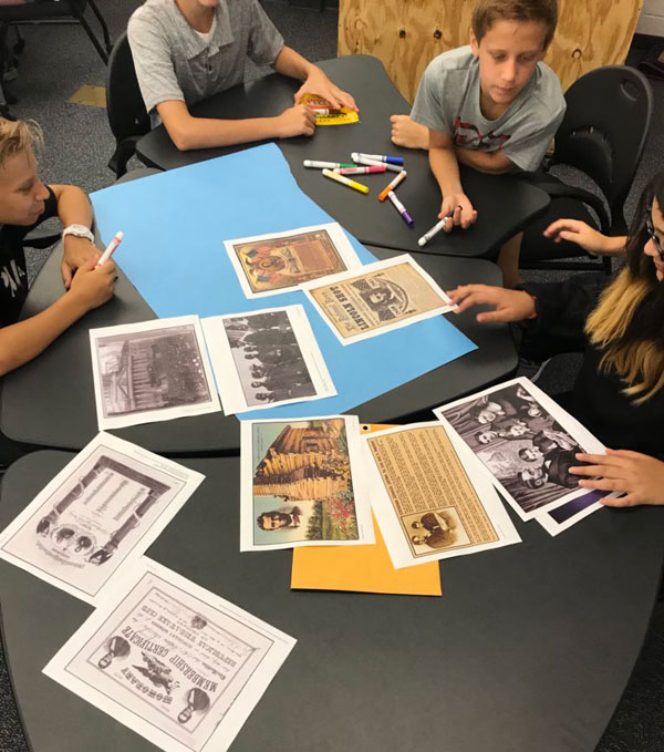 Artifact Study: using primary sources to makes claims and draw conclusions.