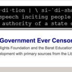 Citizen U Webinar: Should the Government Ever Censor the Press?