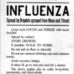 Influenza spread by droplets sprayed from nose and throat