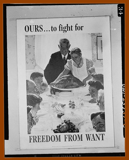 Ours to fight for. Freedom from want