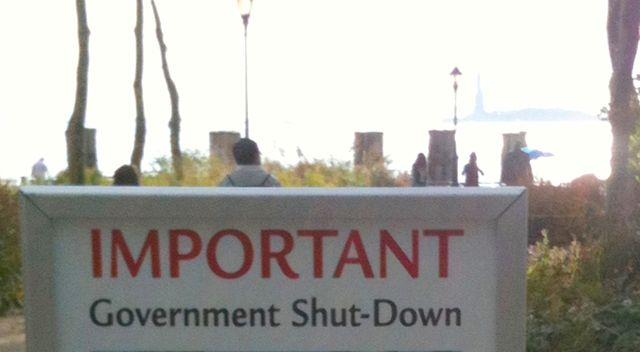 Important government shutdown notice for the Stature of Liberty