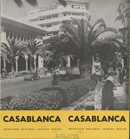 Casablanca Tourist Poster