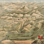 Letts's bird's eye view of the approaches to India