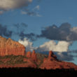 Some of the stunning red rocks for which Sedona, in nothern Arizona, is famous